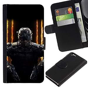 All Phone Most Case / Oferta Especial Cáscara Funda de cuero Monedero Cubierta de proteccion Caso / Wallet Case for Apple Iphone 6 // Double gun SWAT