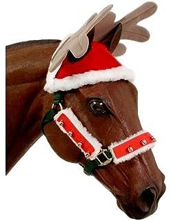 Ear Bonnet Horse Fly Mask Santa Claus Equestrian Fly Veil