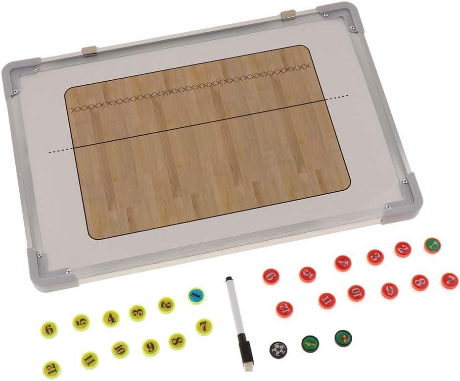 F Fityle Pizarra Magnética de Fútbol/Baloncesto/Voleiball/Balonmano para Entrenador, Material para Entrenamiento - marrón: Amazon.es: Deportes y aire libre