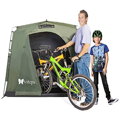 Space-Saving Outdoor Storage Shed Tent, Stores Bikes, Bic...