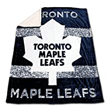 NHL Toronto Maple Leafs Mink and Sherpa Blanket