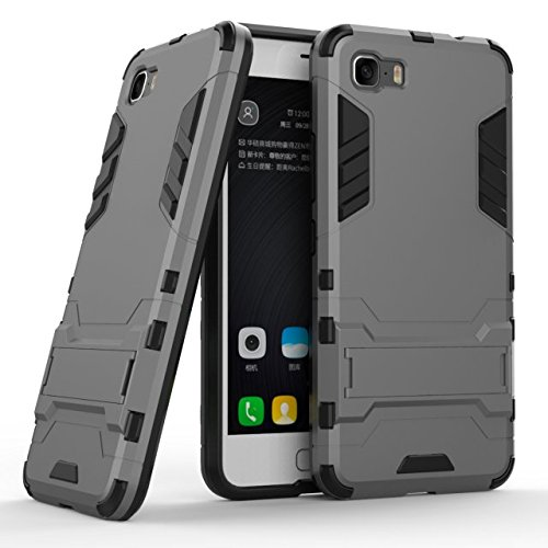 TPU/PC Shockproof Cover Case For Zenfone Max (Grey) - 5