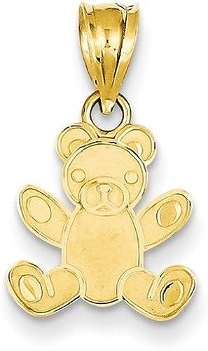 0.79 in x 0.47 in 14K Gold Teddy Bear Pendant