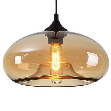 En Verre De Lampe Lustre Luminaire E27 AmbrePour Décoration Moderne Conception Salle W Douille Homelavafans Suspension Bulle 60 tQhdCrs