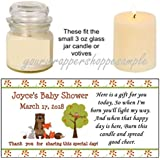56 Personalized Fox Forest Woodland Animals Shower Candle...