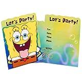 Spongebob Squarepants Party Invitations 8 count