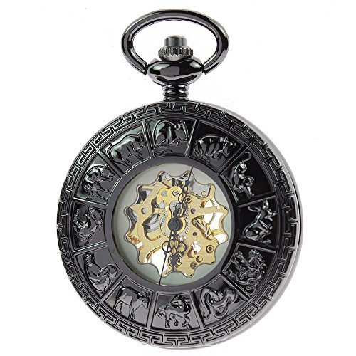 zijae-zodiac-retro-vintage-mens-black-mechanical-hand-wind-up-pocket-watch-steampunk