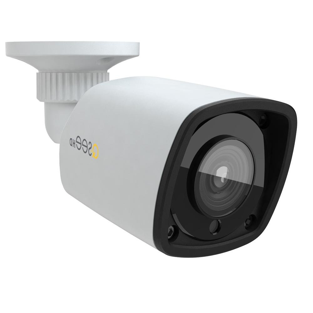 Q-See Home 1080P (2MP) IP HD Color Night Vision Bullet Camera, Add-On, Indoor/Outdoor, White (QTN8083B)