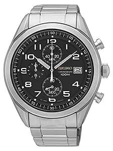 Seiko Reloj Cronógrafo para Hombre de Cuarzo con Correa en Acero Inoxidable SSB269P1: Amazon.es: Relojes