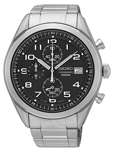 Seiko Men's Chronograph Quartz Watch with Stainless Steel Strap SSB269P1