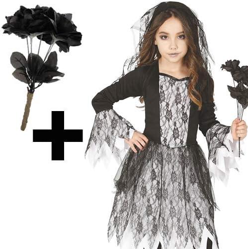 MFD Disfraz de Fantasma para niña, Disfraz de Novia gótica Muerta ...