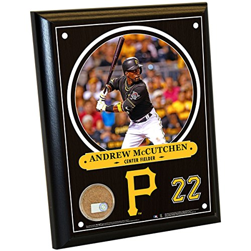 "MLB Pittsburgh Pirates Andrew McCutchen Plaque with Game Used Dirt from PNC Park, 8"" x 10"", Navy"