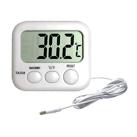Contrôleurs/régulateurs/mètres appareil de mesure Eau Thermomètre Aquariophilie, bassins, mares Aquarium thermomètre digital avec la température ambiante