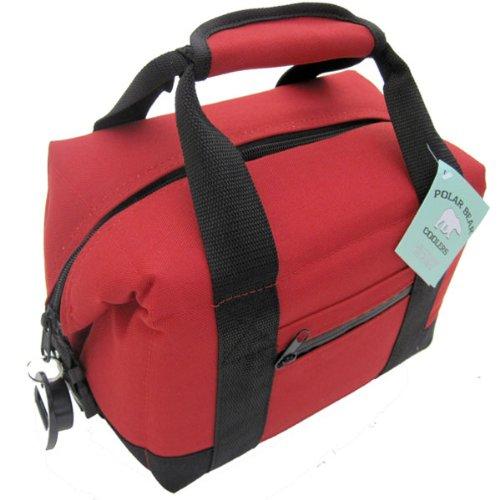 Cordura Nylon Heavy Bag - Polar Bear Coolers 6 Pack Soft Cooler, Red