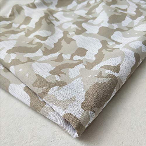 ZAIONE Camouflage Military Army Printed Fabric by The Yard Width 58