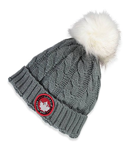 Canada Weather Gear Cable Knit Beanie - gray, one size