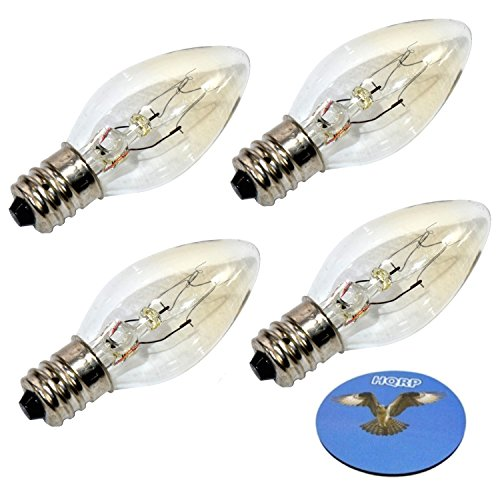 (HQRP 4-Pack 15W 120V Light Bulbs for Better Homes and Gardens Wax Warmers Plus HQRP Coaster)