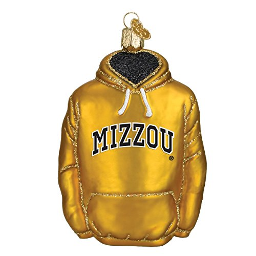 University of Missouri Hoodie Glass Blown Ornament