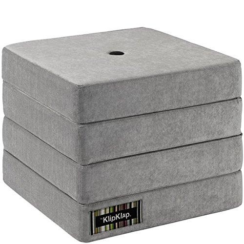 by KlipKlap 4 fold multimadras - Velvet - Argent Velvet with dark grey button
