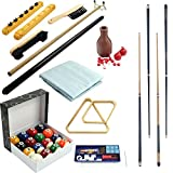 32 Piece Billiards Accessories Set for Your Pool Table - Includes 4 Cue Sticks!