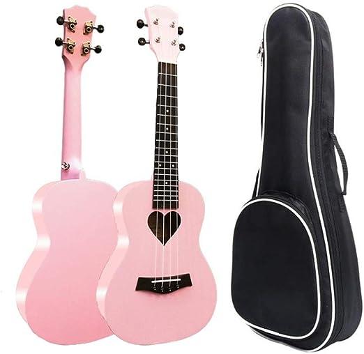 Ukeleles Girls Pink 23 Pulgadas Ukulele de Concierto Uke Hawaii ...