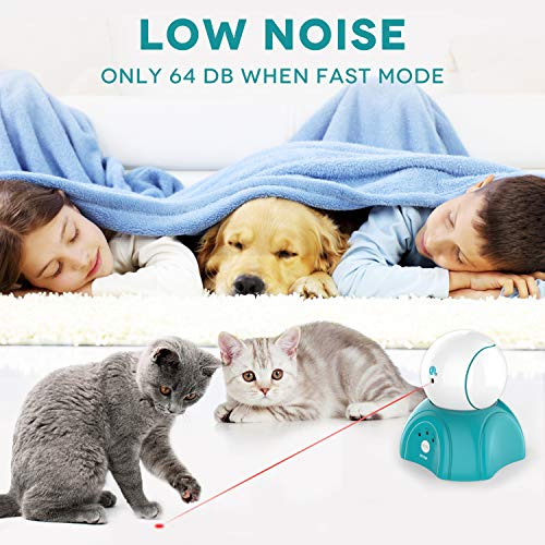 petnf Cat Laser Toy,Laser Ball for Cats,Cat Toys Interactive,Non-Toxic and Eco-Friendly Cat Toy with Three Play Mode,Separation Design and Timer Setting Laser Toy,360°Automatic Rotating Laser Toy 7