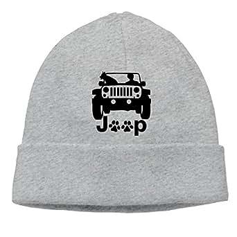 Beanie Hat Jeep Canine Winter Soft Cotton Cap for Men's