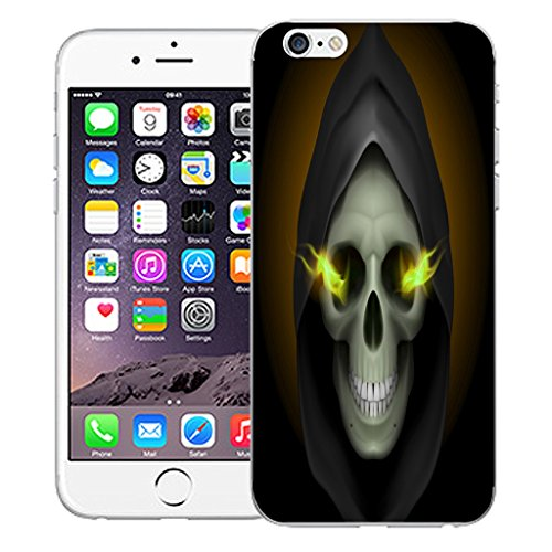 "Mobile Case Mate iPhone 6S Plus 5.5"" Silicone Coque couverture case cover Pare-chocs + STYLET - Hooded Skull pattern (SILICON)"