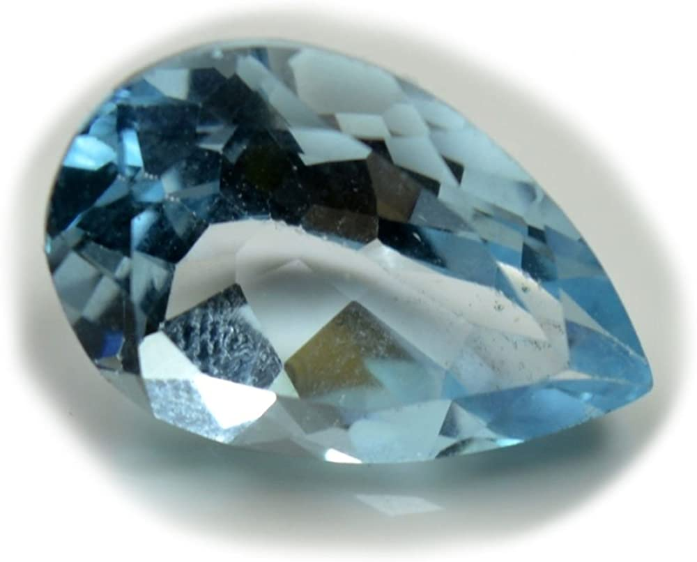 Details about  /Natural Blue Topaz Birthstone 12x8mm Pear Cut 5 Piece Top Quality Loose Gemstone