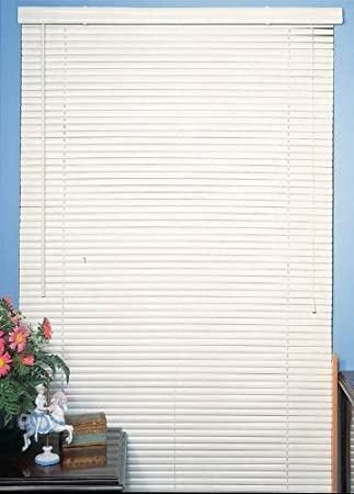Achim White Vinyl 1 Mini Blinds - 38 Wide x 64 Long