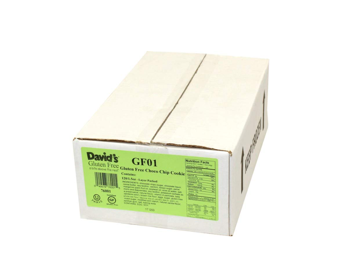 Davids Gluten Free Chocolate Chip Cookie Dough, 1.5 Ounce -- 120 per case. by David's Cookies