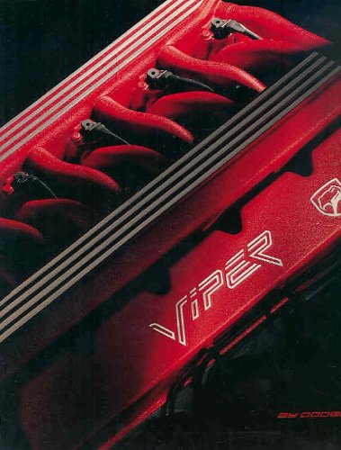 1992 DODGE VIPER RT/10 ROADSTER PRESTIGE COLOR SALES BROCHURE (4/92) - USA - EXCELLENT - Dodge Roadster