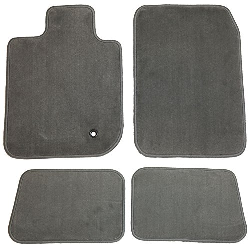 GG Bailey D3976B-S1A-GY Two Row Set Custom Fit Floor Mats for Select Jaguar XJ8/XJR Models - Nylon Fiber (Grey) by GG Bailey