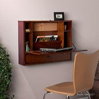 Amazon Com Winsome Wood Secretary Desk Walnut Kitchen