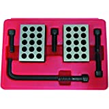 HHIP 3402-0055 1-2-3 Precision Block Set with Screws and Key, 23 Holes
