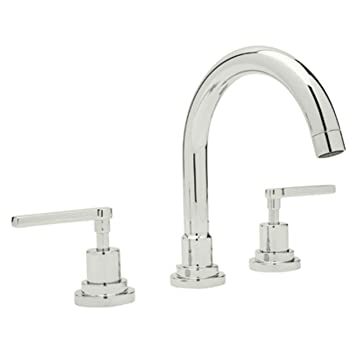 Rohl A2228LMPN 2 Lombardia C Spout Widespread Bathroom Sink Faucet With  Lever Handles,