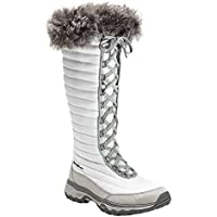 Eddie Bauer Women's MicroTherm Tall Boot (Snow/Black)