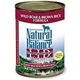 Natural Balance Limited Ingredient Diets Wild Boar & Brown Rice Formula Canned Dog Food - Case of 12