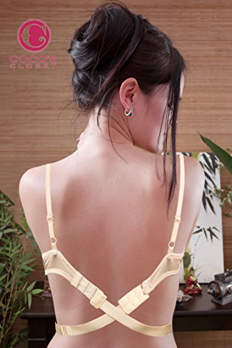 b65a80c199f Coco s Closet Low Back Bra – Adjustable Bra Extender for Backless Dress –  Nude 1 Hook