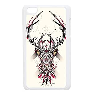 Animal Art Artificial Unique Design Cover Case with Hard Shell Protection for Ipod Touch 4 Case lxa#837566