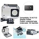 Kupton Case for Xiaomi 4K/Yi 4K+/Yi Lite/YI Discovery 4K Waterproof Housing Case+ Head Strap+ Chest Harness+ Car Suction Cup+Bike Handlebar Mount+Floaty Handle Action Camera Starter Kit