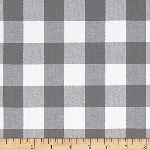 - Robert Kaufman Kaufman 1in Carolina Gingham Grey Fabric by The Yard,
