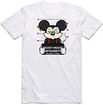 White Miki Mouse T-Shirt For Boys - size 3-4 years