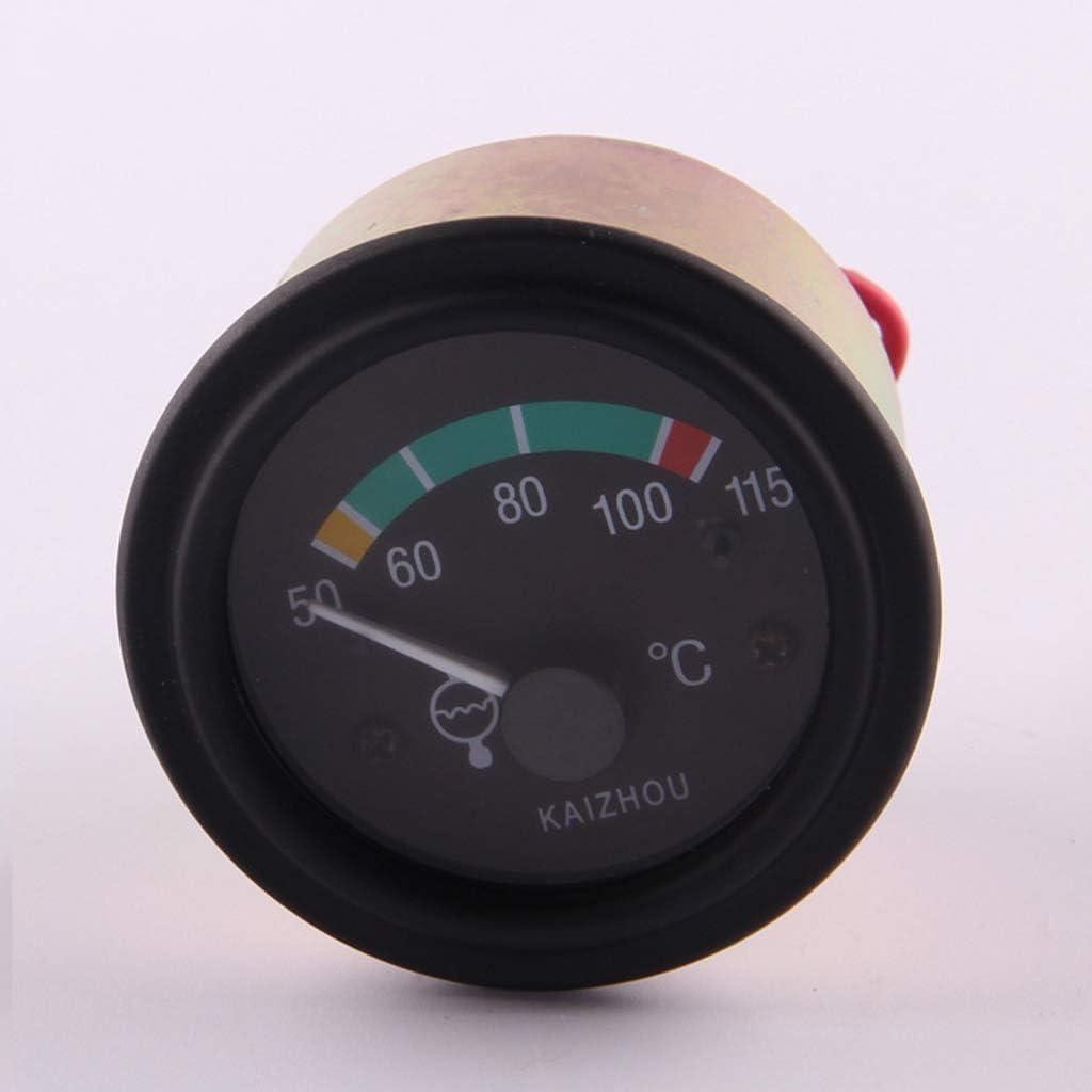 DC12v//24v Engine Temperature Gauge Water//Oil Temp Temperature Gauge Mounting Hole Diameter 56mm DC24V