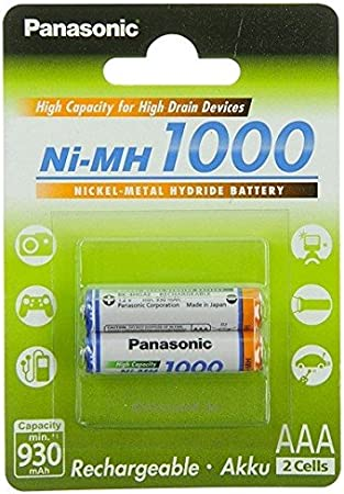2x Panasonic Aaa Akku 1000 Ni Mh Micro 1 2v Dect Telefone