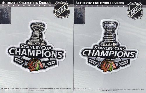 2010 & 2013 NHL Stanley Cup Final Champions Jersey Official Patch Chicago Blackhawks Hockey