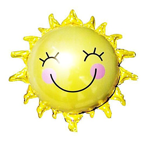 Gracefulvara 2PCS Large Sun Smiling Face Foil Balloon Wedding Birthday Holiday Party