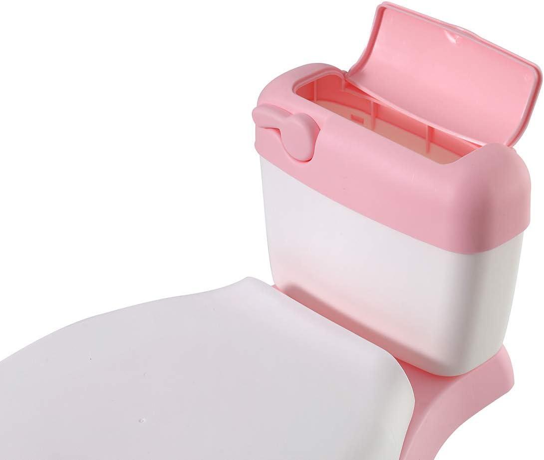 Glenmore Pot Enfant Apprentissage Mini Imitation Toilettes Wc Potty pour Bebe Rose