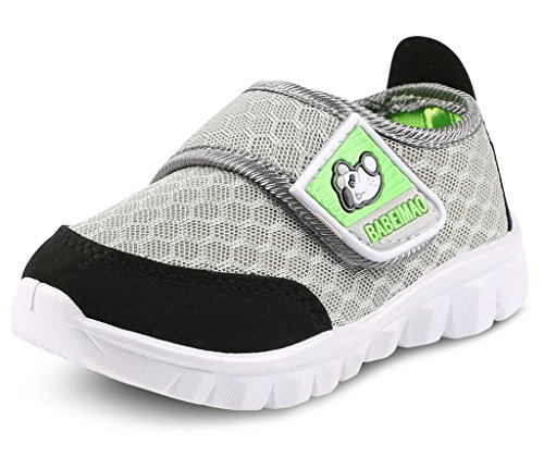DADAWEN Baby's Boy's Girl's Mesh Light Weight Sneakers Running Shoe Gray US Size 11.5 M Little Kid (Little Girl Walking)