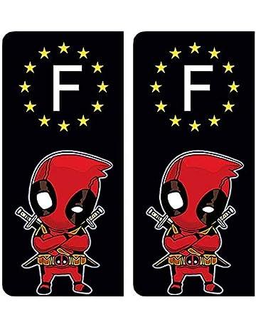 DECO-IDEES 2 Stickers pour Plaque dimmatriculation Stickers recouvert dun pelliculage sp/écifique pour Resister aux intemp/éries 88 Vosges- Stickers Garanti 1 an aux Rayons UV.